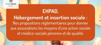 EHPAD & insertion sociale : les propositions de France Horizon pour garantir la pérennité des associations